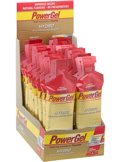 PowerBar PowerGel Hydro Energitillskott Körsbär med Koffein 24 x 67ml
